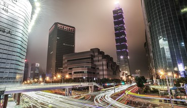 Cityscapes lights taiwan taipei 101 cities HD wallpaper