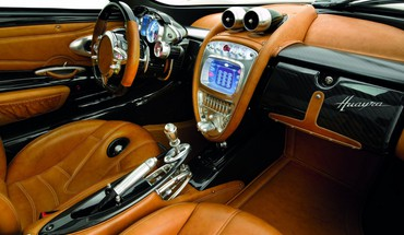 Interior pagani huayra side HD wallpaper