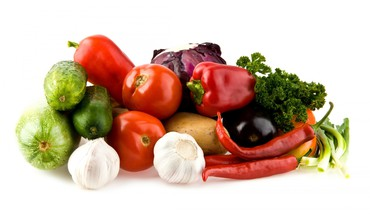 Garlic peppers tomatoes vegetables HD wallpaper