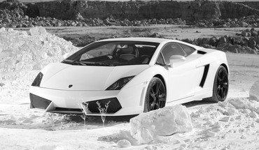 Lamborghini cars monochrome HD wallpaper
