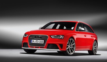 Audi RS4 voitures d'avant rouge sports  HD wallpaper