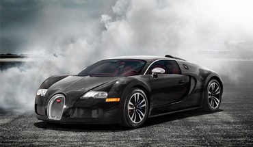 Bugatti Veyron schwarzen Autos Nebel smoke  HD wallpaper