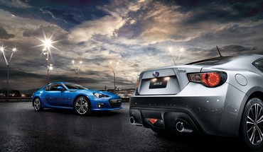 BRZ Subaru automobiliai streetscape  HD wallpaper