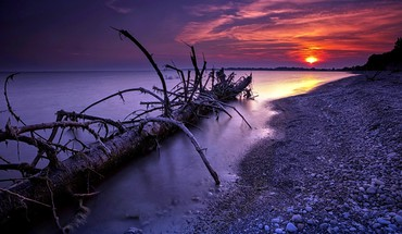 Sunset shore  HD wallpaper