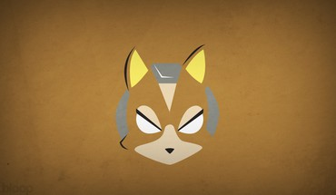 Minimalistic superheroes star fox brown background blo0p HD wallpaper