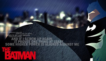 Batman rain superheroes typography HD wallpaper