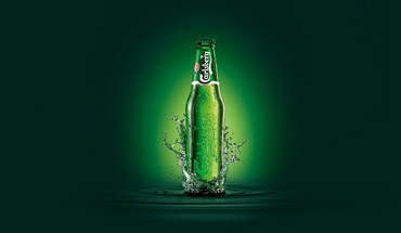 Carlsberg beers bottles brands digital art HD wallpaper