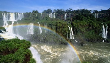 Iguazu falls rainbows HD wallpaper