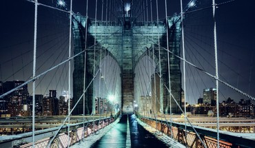 Brooklyn bridge new york city bridges cityscapes lights HD wallpaper