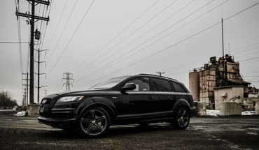 Audi q7 german cars suv black HD wallpaper