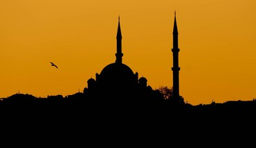 Sunset silhouettes turkey istanbul mosque HD wallpaper