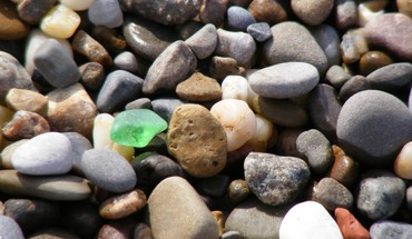 Beach glass nature pebbles stones HD wallpaper