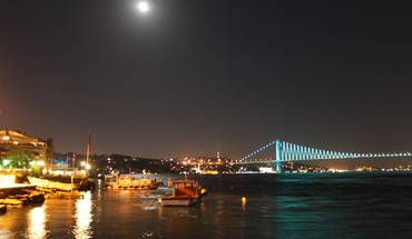 Cityscapes lights bridges istanbul bosphorus cities HD wallpaper