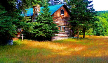 A cabin in baldwin springs hdr HD wallpaper