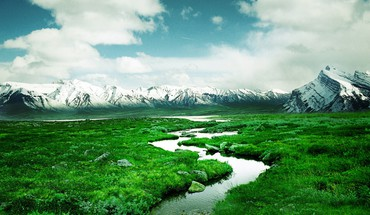 Mountains landscapes rivers HD wallpaper
