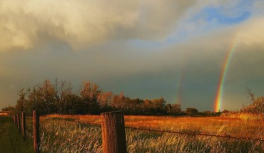 Rainbow after the storm kansas HD wallpaper
