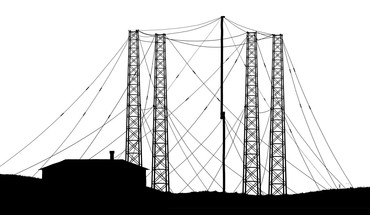 Black and white xkcd tower HD wallpaper