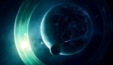 Light outer space planets rings HD wallpaper