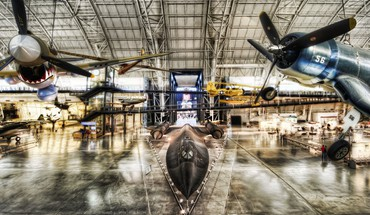 hangar d'aviation  HD wallpaper