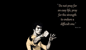 Bruce lee artwork black background quotes HD wallpaper