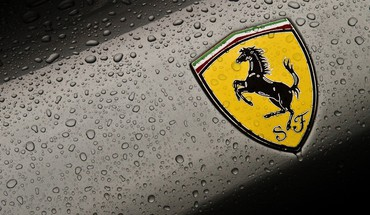 Ferrari emblem cars logos water drops HD wallpaper