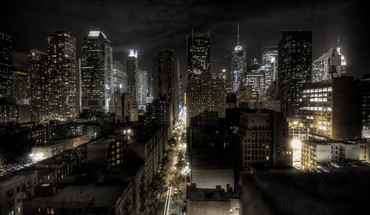 New york city lights cityscapes night HD wallpaper