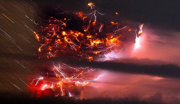 Chaiten chile hdr photography lightning storm HD wallpaper
