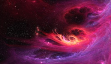Abstract fractals outer space HD wallpaper