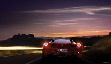 Ferrari 458 italia cars rear view HD wallpaper