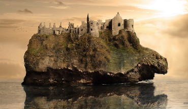 Castles islands HD wallpaper