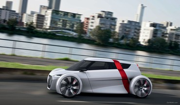Audi cars concept art urban HD wallpaper