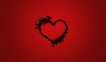 Grunge justice love minimalistic red HD wallpaper