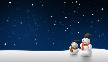 Snowman 1  HD wallpaper
