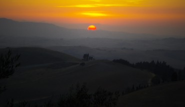 Italy toscana sunset HD wallpaper