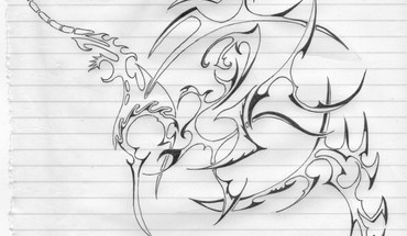 My drawings tribal HD wallpaper
