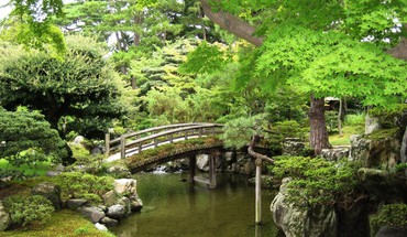 Ponts plantes paysages de jardin de la nature  HD wallpaper