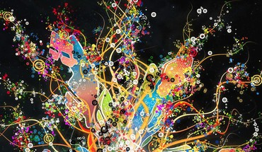 couleurs abstract vector art  HD wallpaper