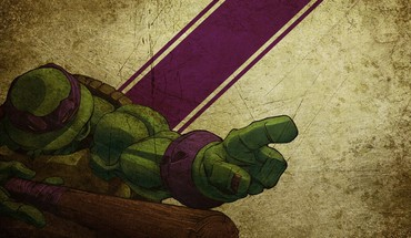 adolescent mutant ninja turtles caricatures Donatello grunge rétro  HD wallpaper