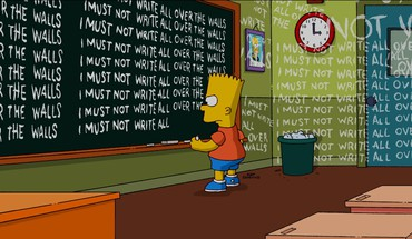 School the simpsons blackboards bart simpson HD wallpaper