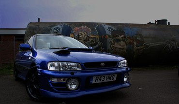 Subaru Impreza voitures bleues Tuning  HD wallpaper