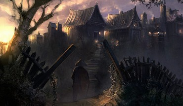 Artwork fantasy art houses villages HD wallpaper