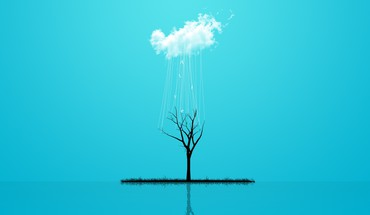 Abstract alive blue minimalistic rain HD wallpaper
