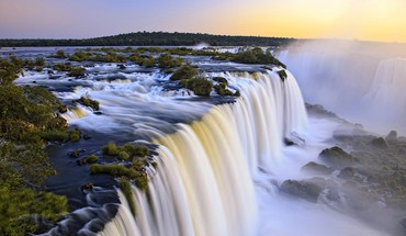 Landscapes rivers waterfalls HD wallpaper