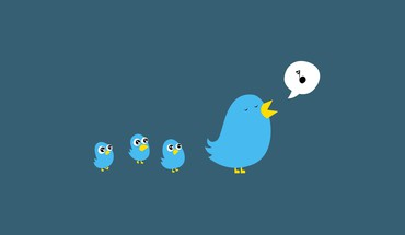 Birds cartoons minimalistic simple HD wallpaper