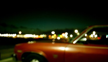 Lights cars red blurred HD wallpaper