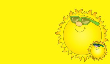 Sun simple sunglasses yellow HD wallpaper