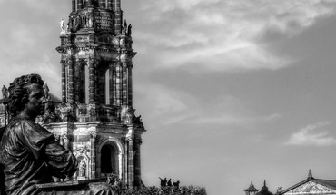 Architecture Dresde photographie HDR HD wallpaper