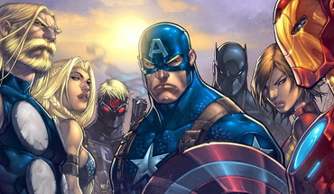 Comics thor captain america marvel ultimates avengers HD wallpaper