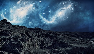 Mountains Weltall Nacht Sterne Himmel Galaxien  HD wallpaper