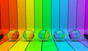 Colors multicolor rainbows spheres stripes HD wallpaper